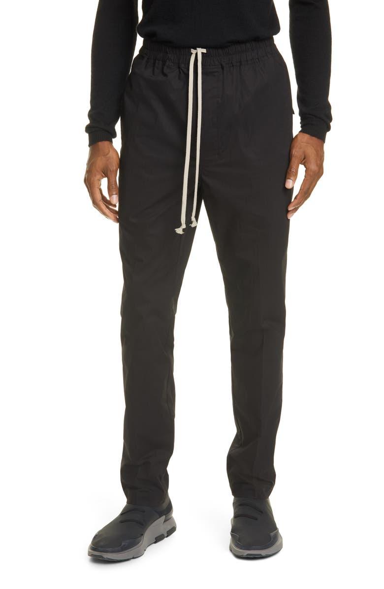 RICK OWENS Asta Slim Fit Pants, Main, color, 001