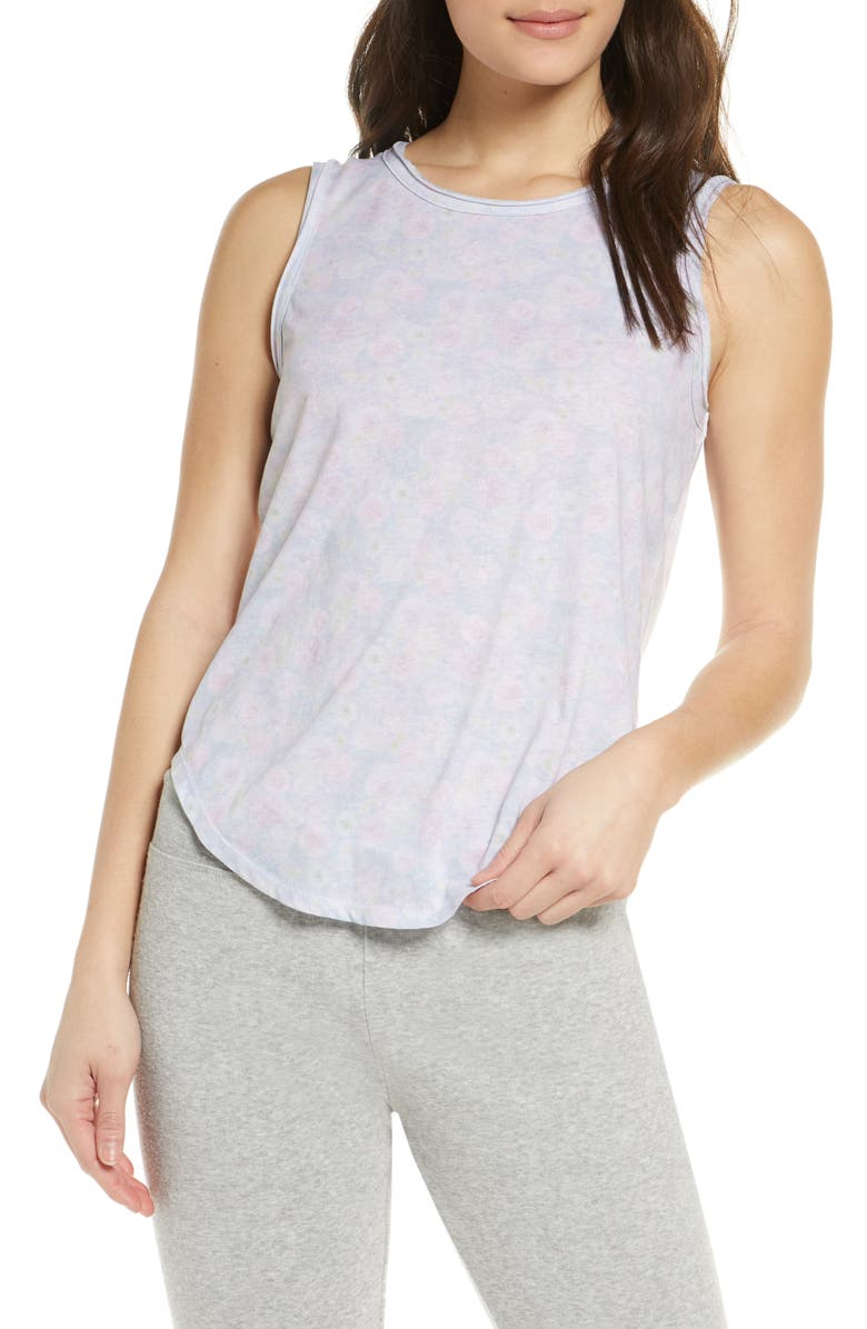 CHASER Shirttail Tank, Main, color, WILDFLOWER