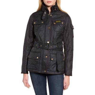 Barbour International Water Resistant Polarquilt Moto Jacket, US / 12 UK - Black