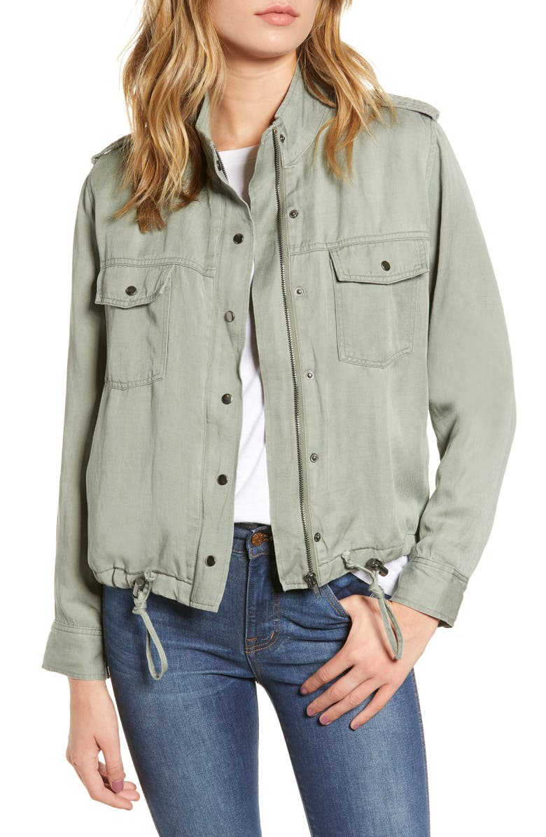 RAILS Collins Military Jacket, Main, color, SAGE