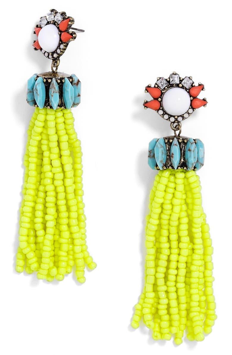 BAUBLEBAR 'Hera' Tassel Drop Earrings, Main, color, 700