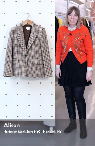 Kerstin Plaid Wool Blazer, sales video thumbnail