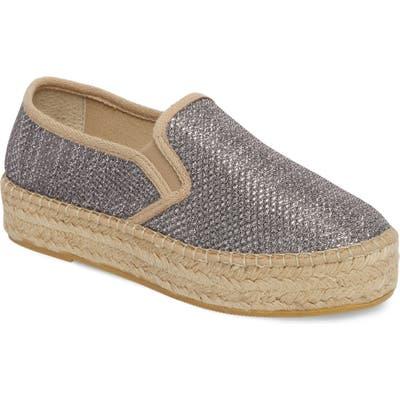 Toni Pons Fonda Platform Espadrille Sneaker, Grey