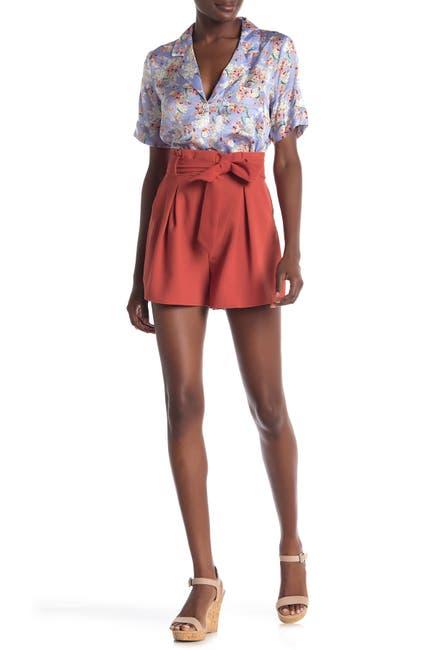 Image of Free Press Paperbag Tie Waist Shorts