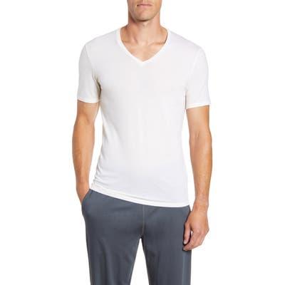Icebreaker Anatomica Short Sleeve V-Neck T-Shirt, White
