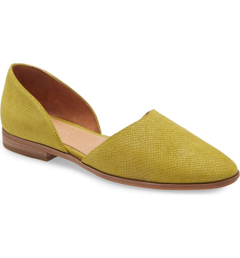 MADEWELL The Marisa d'Orsay Flat, Main, color, OLIVE LIZARD PRINT EMBOSSED