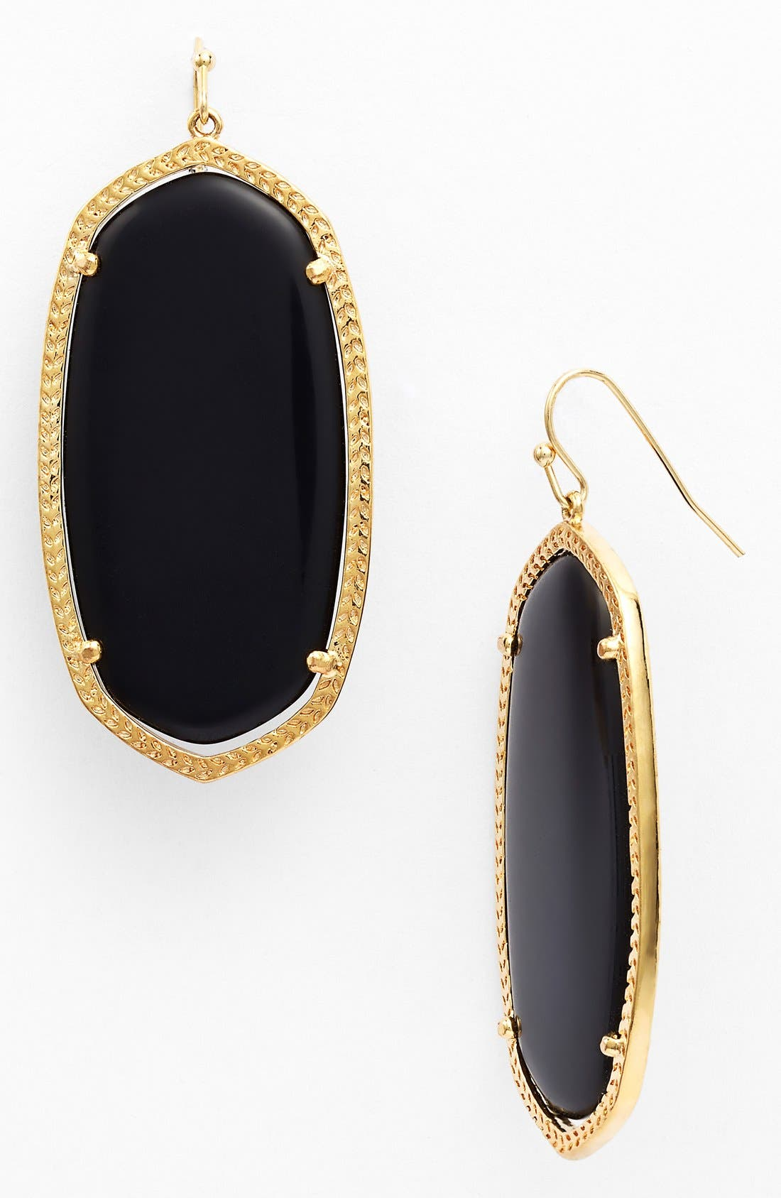 'Danielle' Oval Statement Earrings, Main, color, 001