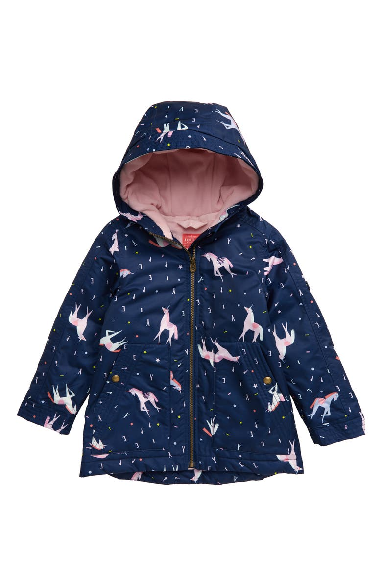 JOULES Raindrop Waterproof Rain Jacket, Main, color, 468