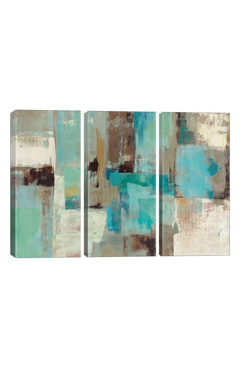 ICANVAS Teal & Aqua Reflections 2 by Silvia Vassileva Giclée Print Canvas Art, Main, color, GREEN