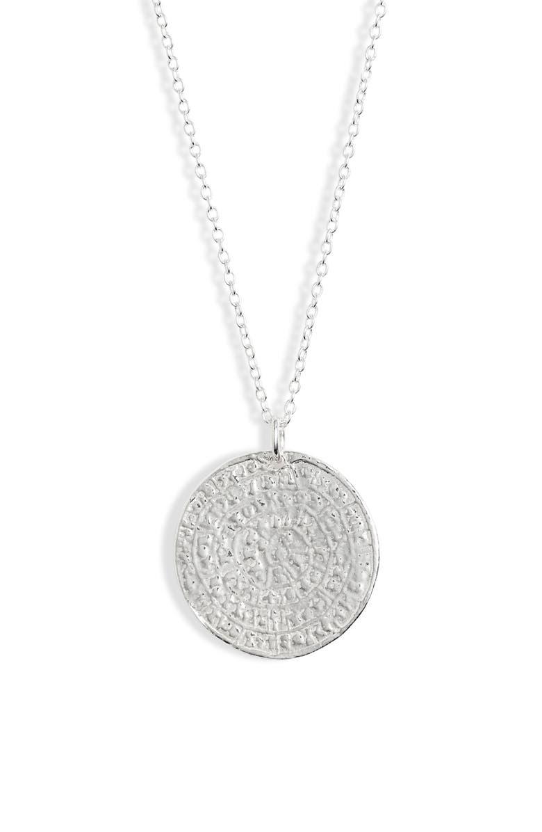ARGENTO VIVO Medallion Necklace, Main, color, SILVER