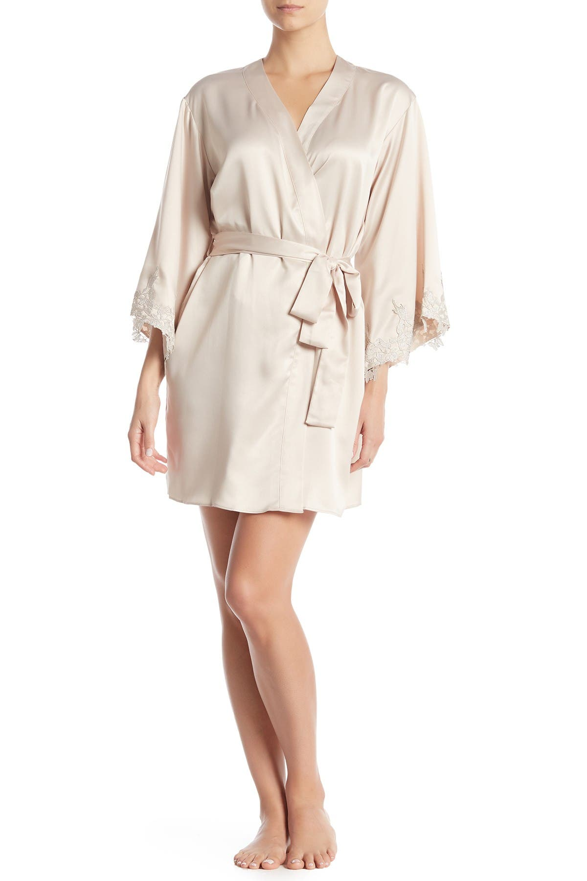 Image of Flora Nikrooz Sleepwear Alessia Charm Satin Robe