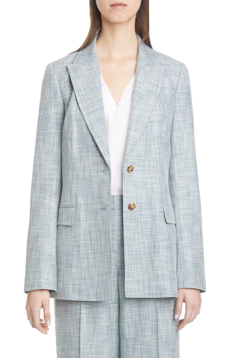 LAFAYETTE 148 NEW YORK Harlow Cotton, Wool & Silk Blazer, Main, color, 313