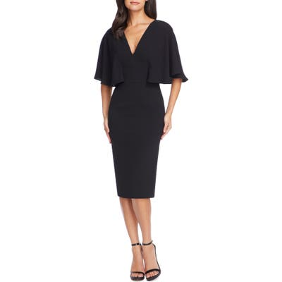Dress The Population Louisa Butterfly Sleeve Cocktail Dress, Black