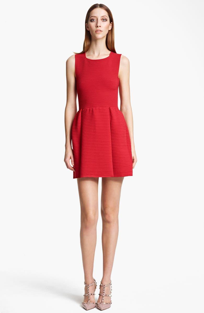 VALENTINO Sleeveless Full Skirt Dress, Main, color, 610