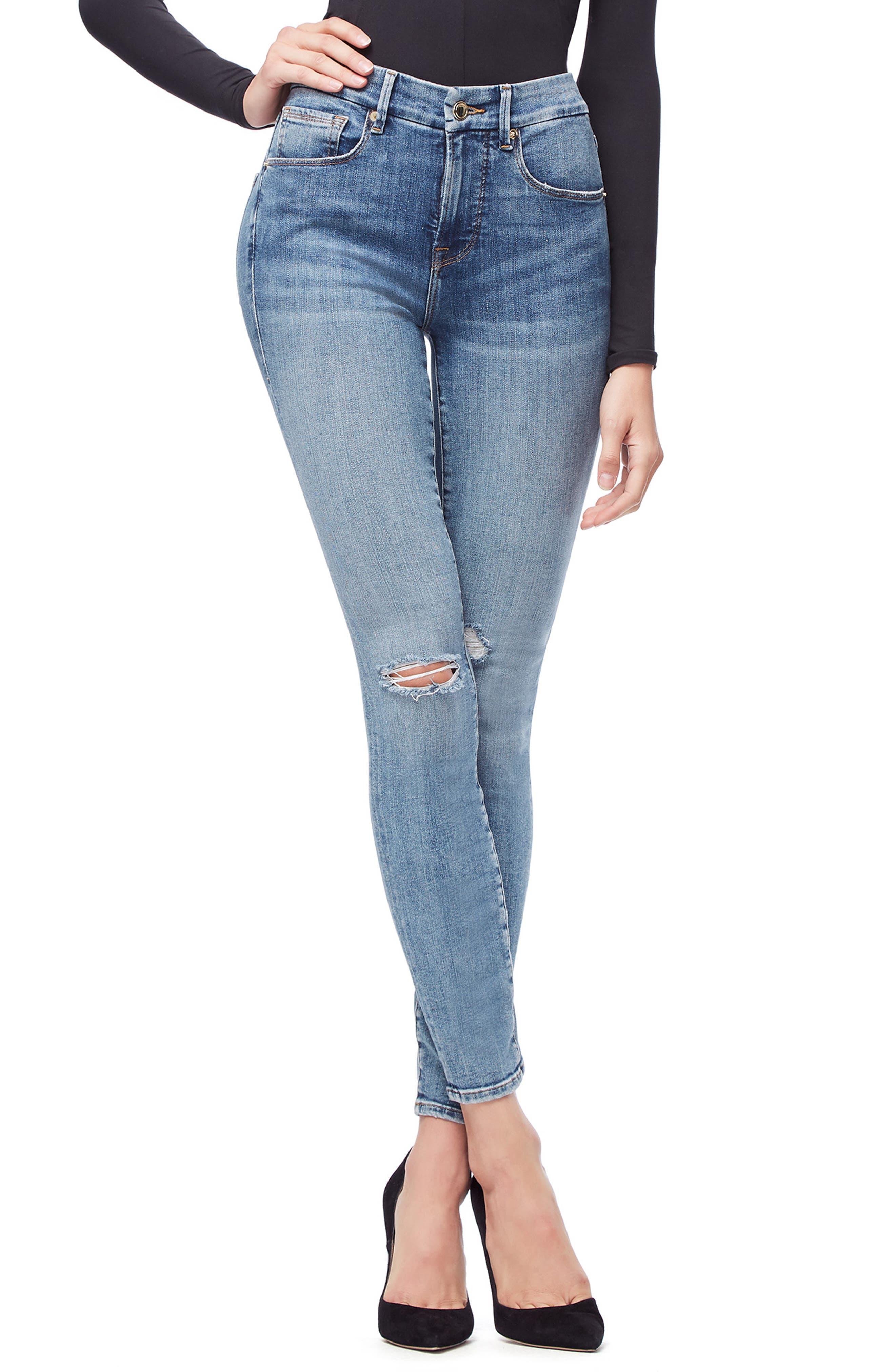 ,                             Good Legs High Waist Skinny Jeans,                             Main thumbnail 47, color,                             407