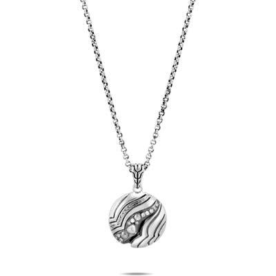 John Hardy Lahar Diamond Circle Pendant Necklace