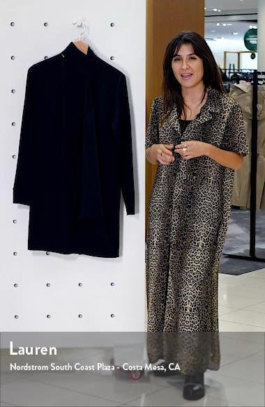 Tie Neck Silk Crêpe de Chine Shift Dress, sales video thumbnail