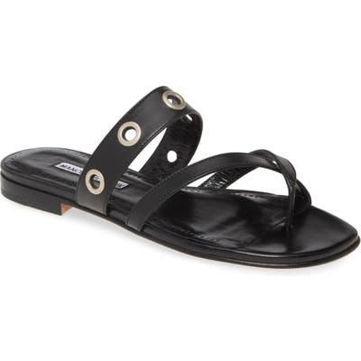 Manolo Blahnik Susoch Thong Sandal, Black