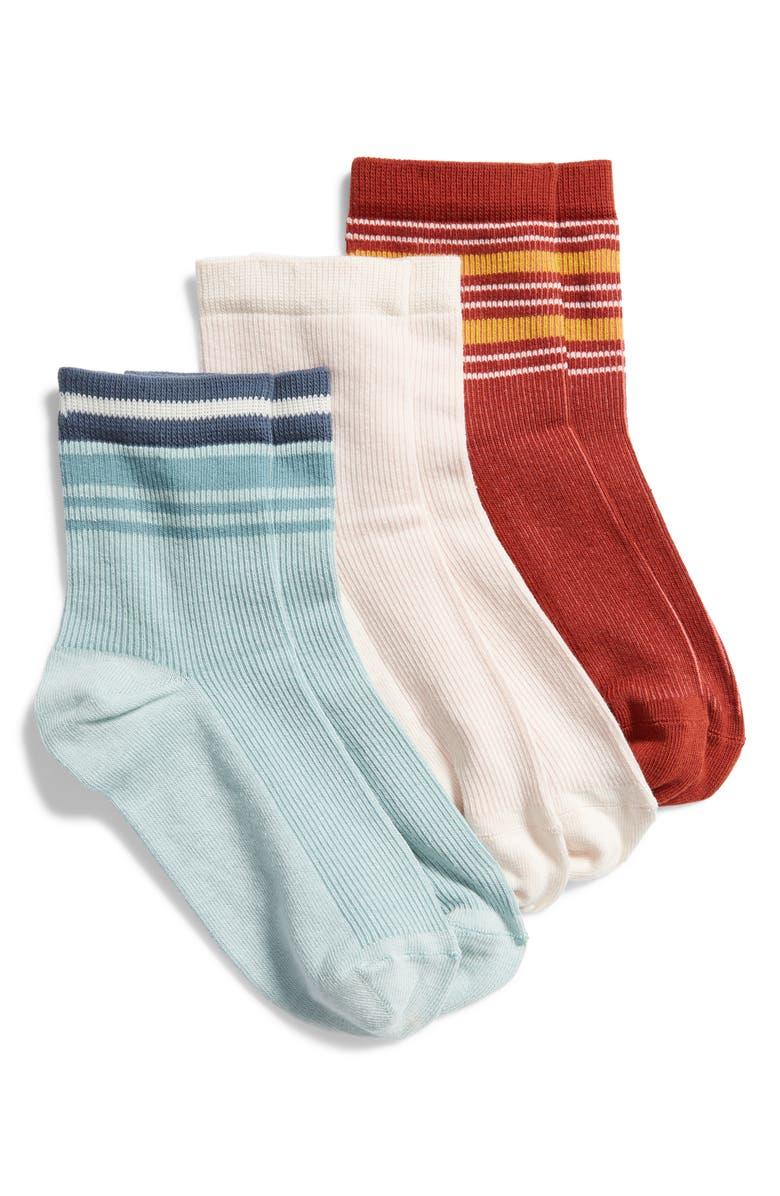 BP. 3-Pack Rib Ankle Socks, Main, color, 451