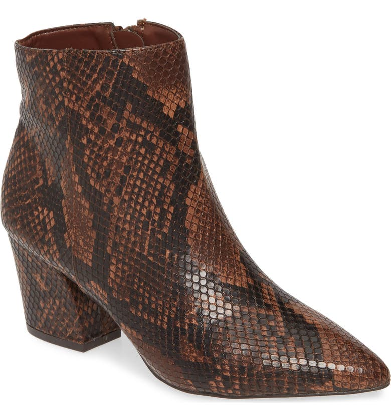 STEVE MADDEN Missie Bootie, Main, color, BROWN SNAKE PRINT