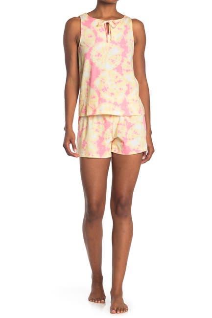 Image of Jane & Bleecker New York Tie Dye Print 2-Piece Pajama Set