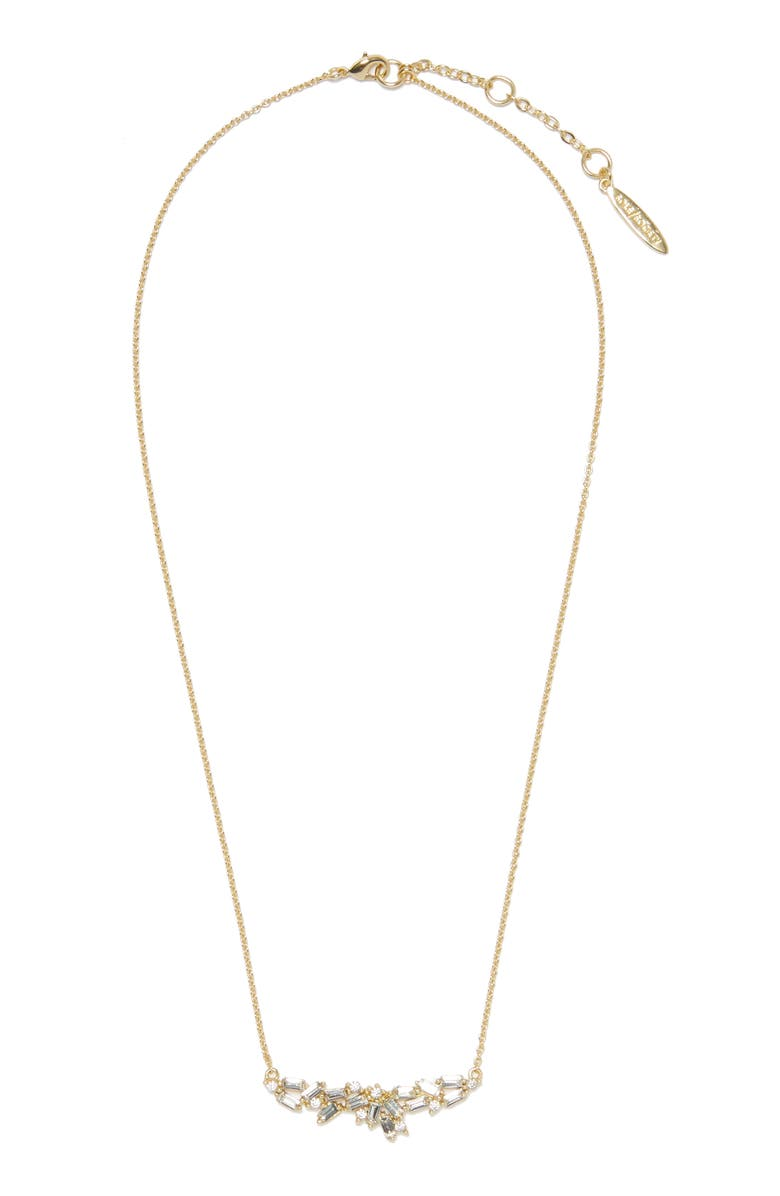 SOLE SOCIETY Crystal Frontal Necklace, Main, color, 020