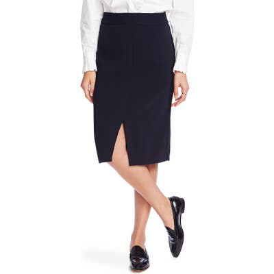 Court & Rowe Front Slit Crepe Pencil Skirt, (similar to 1) - Blue