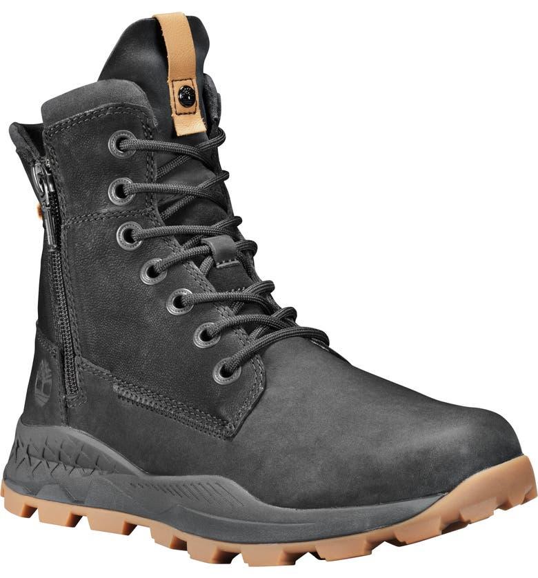 TIMBERLAND Brooklyn Waterproof Plain Toe Boot, Main, color, BLACK NUBUCK