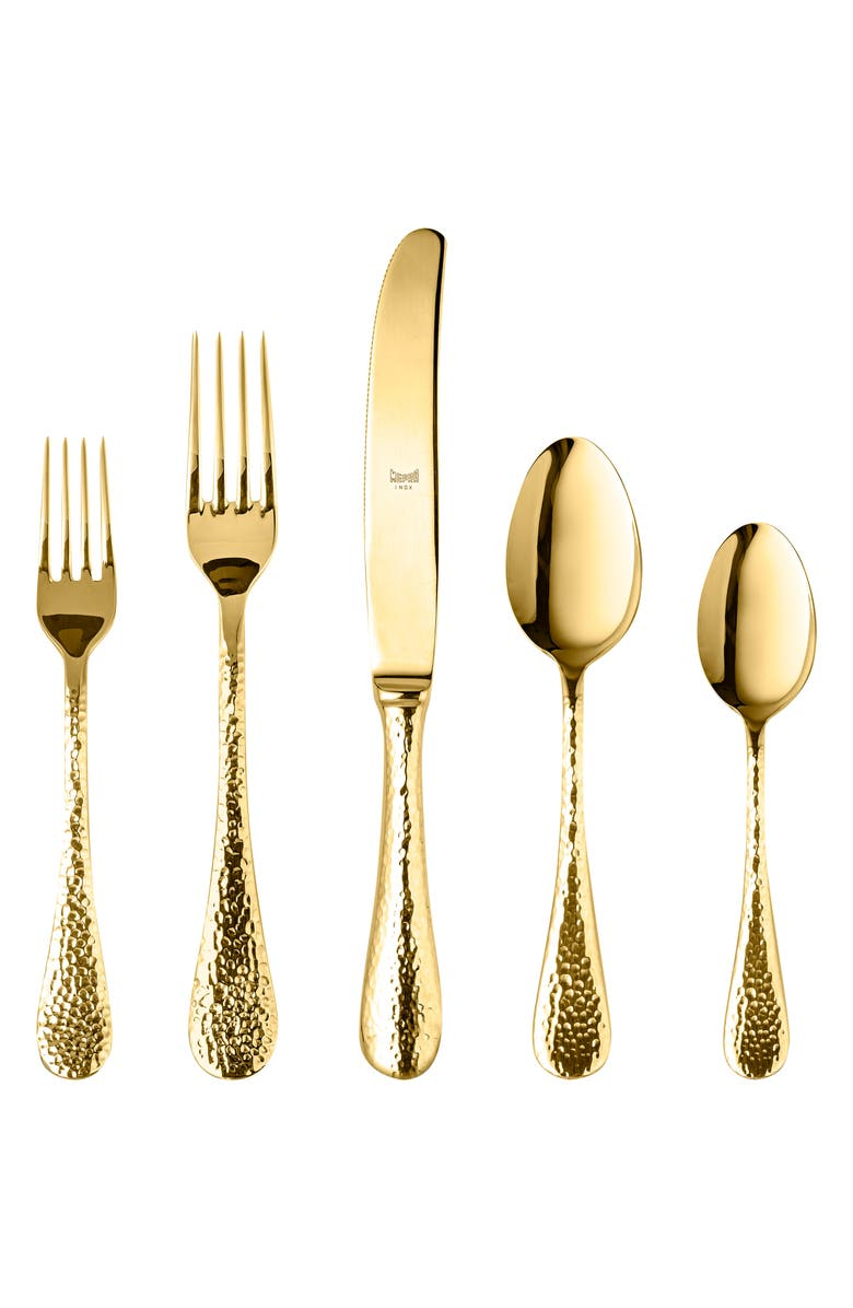 MEPRA Epoque Gold 5-Piece Place Setting, Main, color, 710