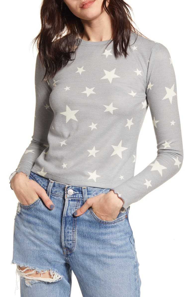 BP. Cozy Thermal Top, Main, color, GREY MONUMENT SEEING STARS