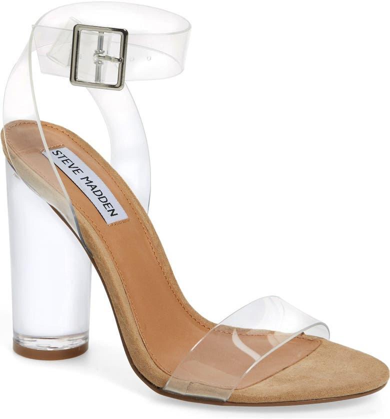 STEVE MADDEN Clearer Column Heel Sandal, Main, color, 960