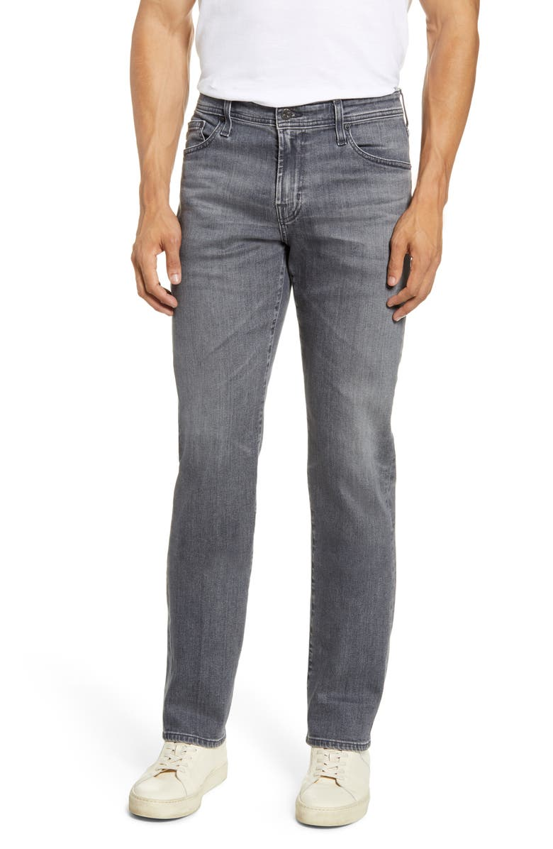 AG Graduate Slim Straight Jeans, Main, color, 8 YEARS NICO