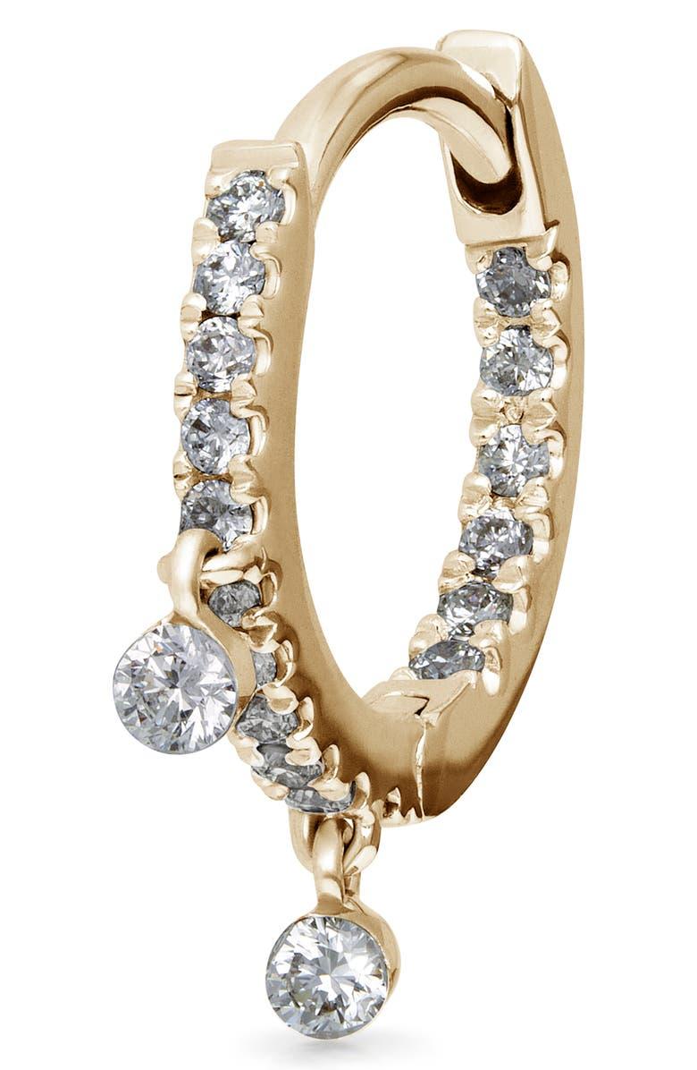 MARIA TASH Double Dangle Diamond Eternity Clicker, Main, color, YELLOW GOLD