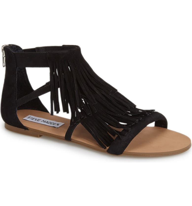 STEVE MADDEN 'Favorit' Fringe Sandal, Main, color, 006