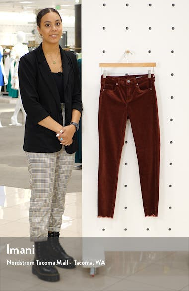 Claret Madison Crop Cord Pants, sales video thumbnail