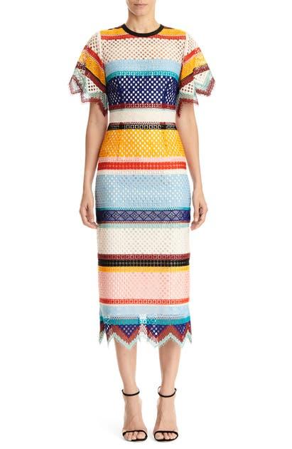 Carolina Herrera Dresses SHORT SLEEVE SHEATH DRESS