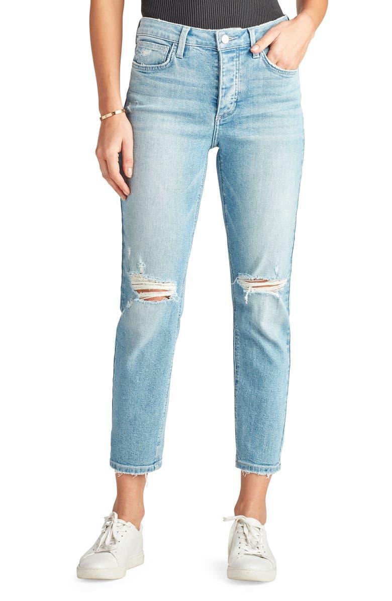 SAM EDELMAN The Mary Jane Ripped Boyfriend Jeans, Main, color, 439