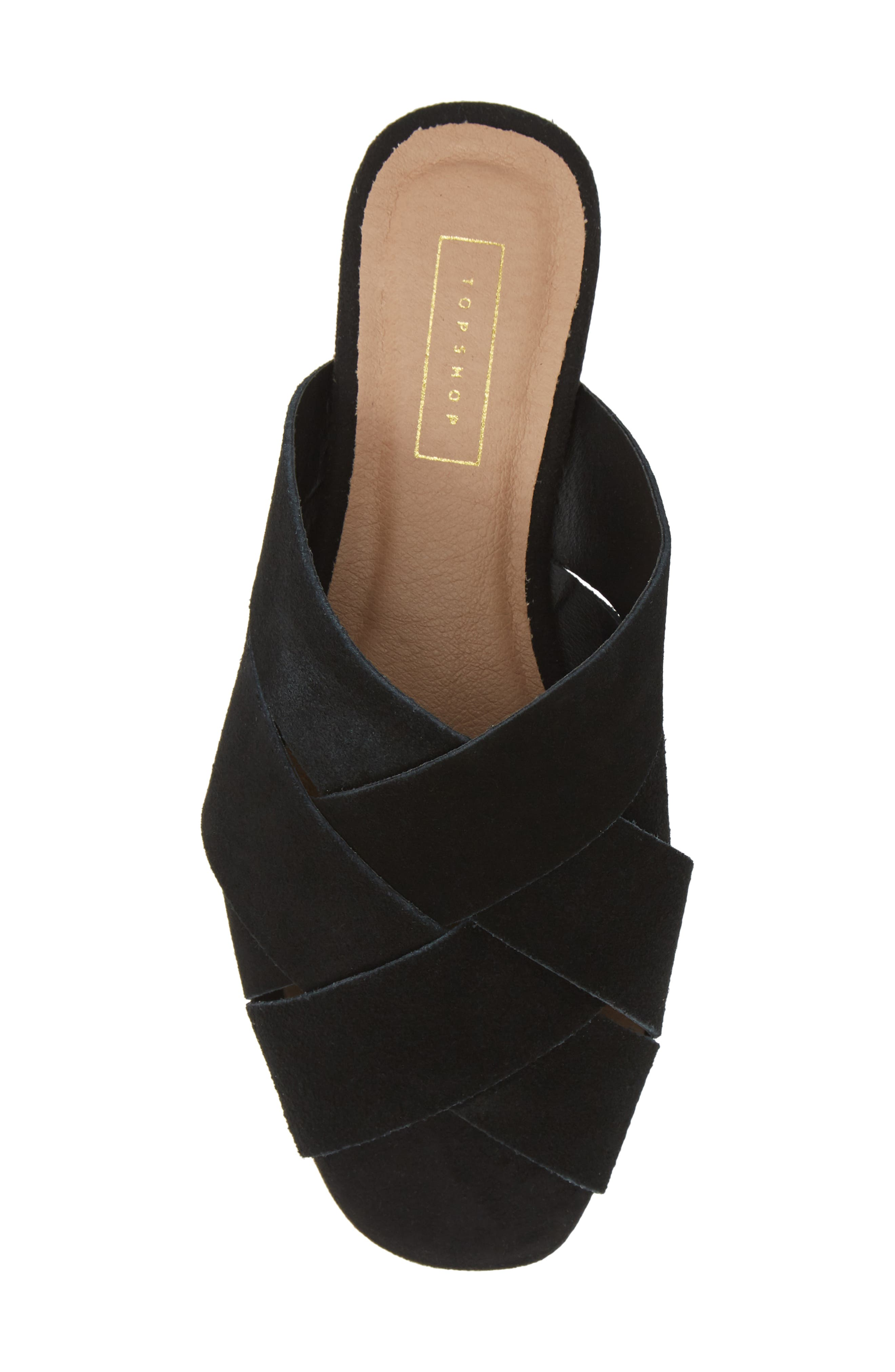 ,                             Hop Cross Slide Sandals,                             Alternate thumbnail 6, color,                             BLACK