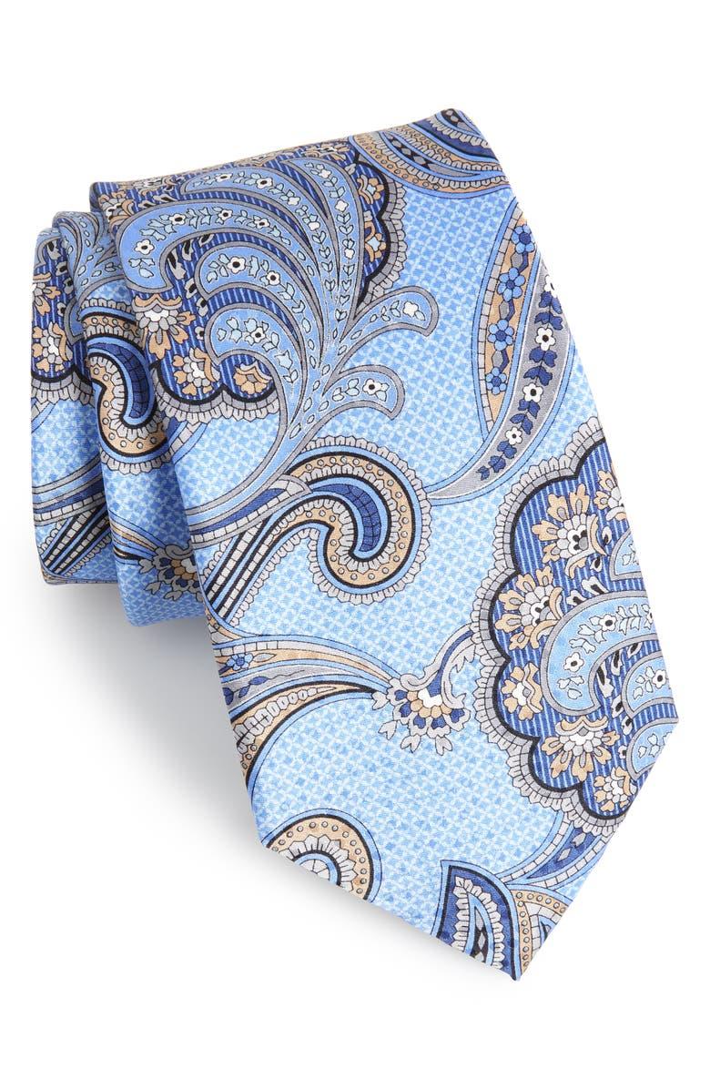 NORDSTROM MEN'S SHOP Paisley Silk Tie, Main, color, 400