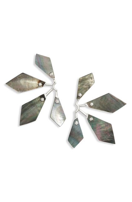 Image of Kendra Scott Malika CZ Fan Earrings