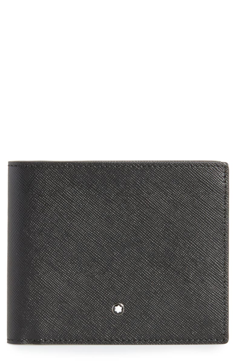 MONTBLANC Sartorial Leather Wallet, Main, color, 001