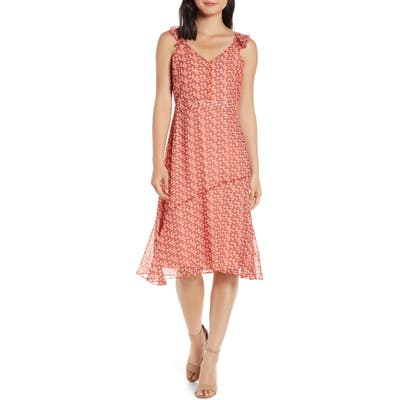 Sam Edelman Print A-Line Sundress, Orange