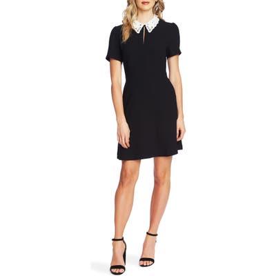 Cece Lace Collar Dress, Black
