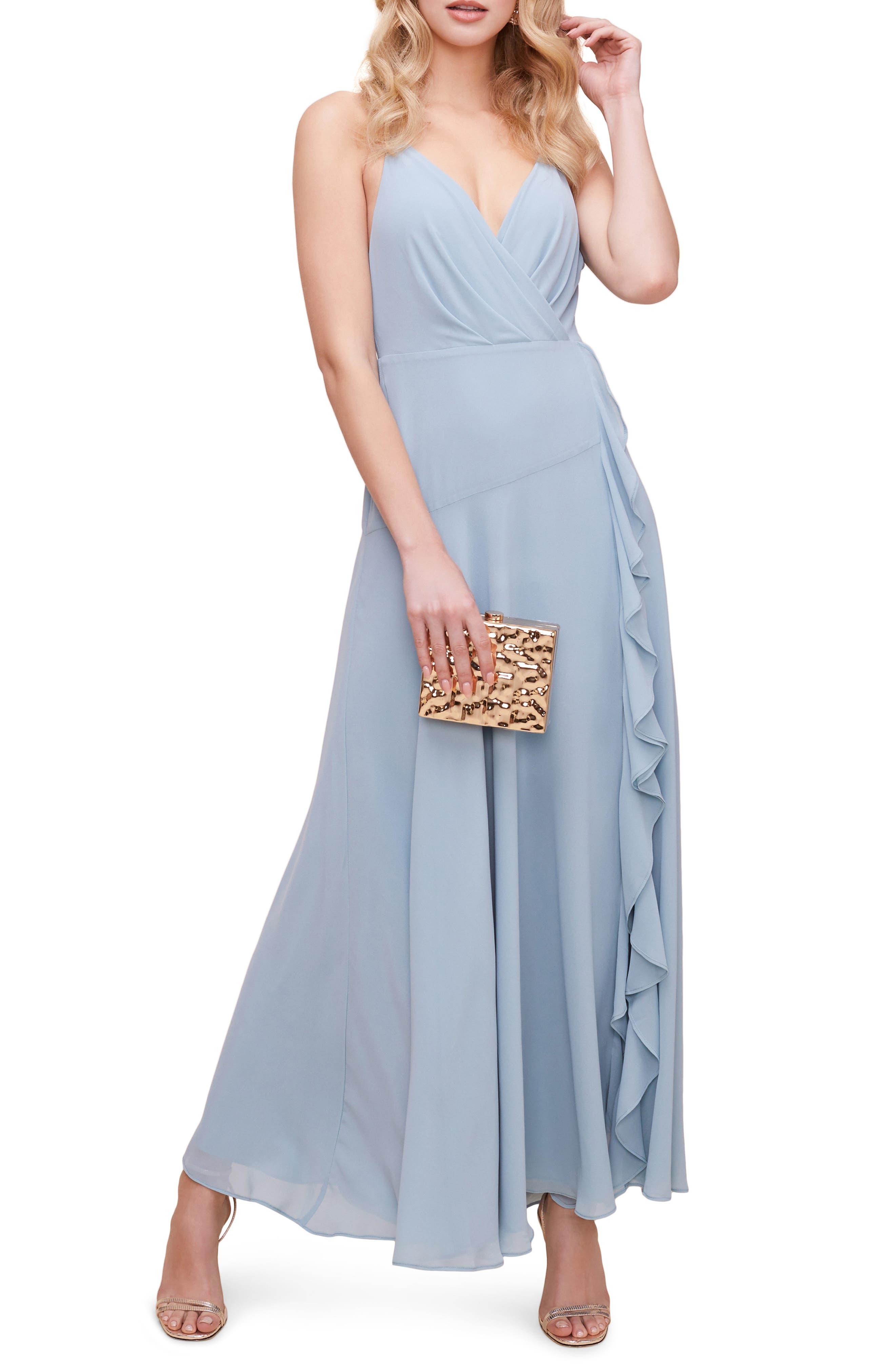 Floral Ruffle Detail Maxi Dress