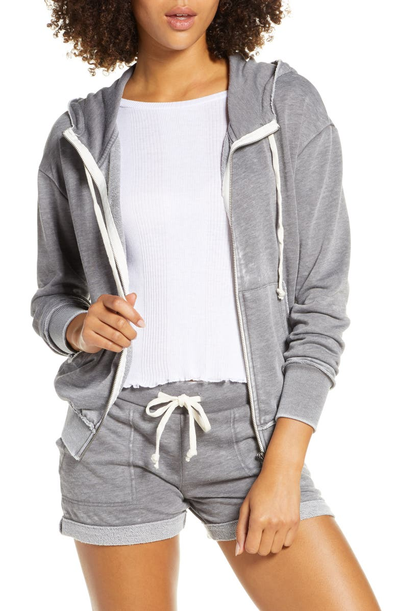 ALTERNATIVE The Fiona French Terry Hoodie, Main, color, 020