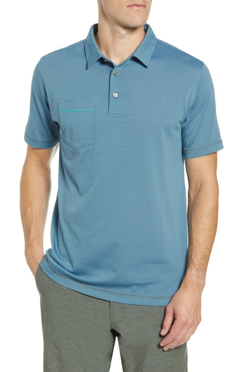 LINKSOUL Edwards Stripe Polo, Main, color, SYCAMORE