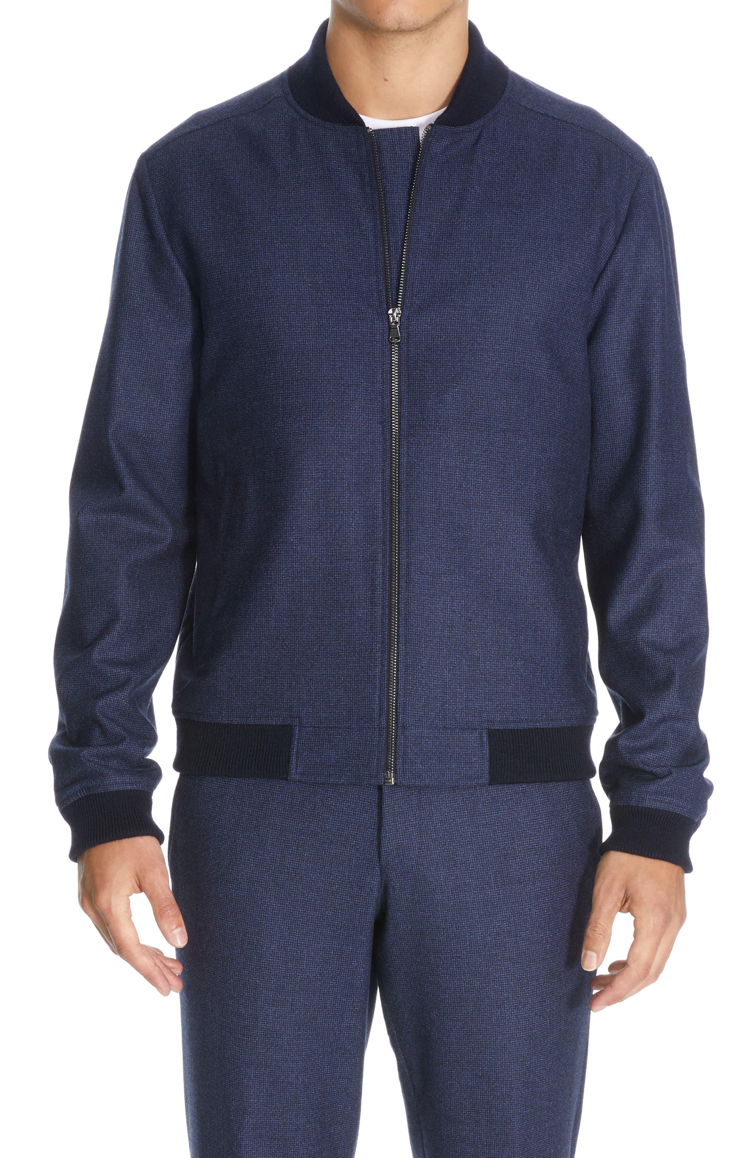 Bennett Stretch Wool Bomber Jacket