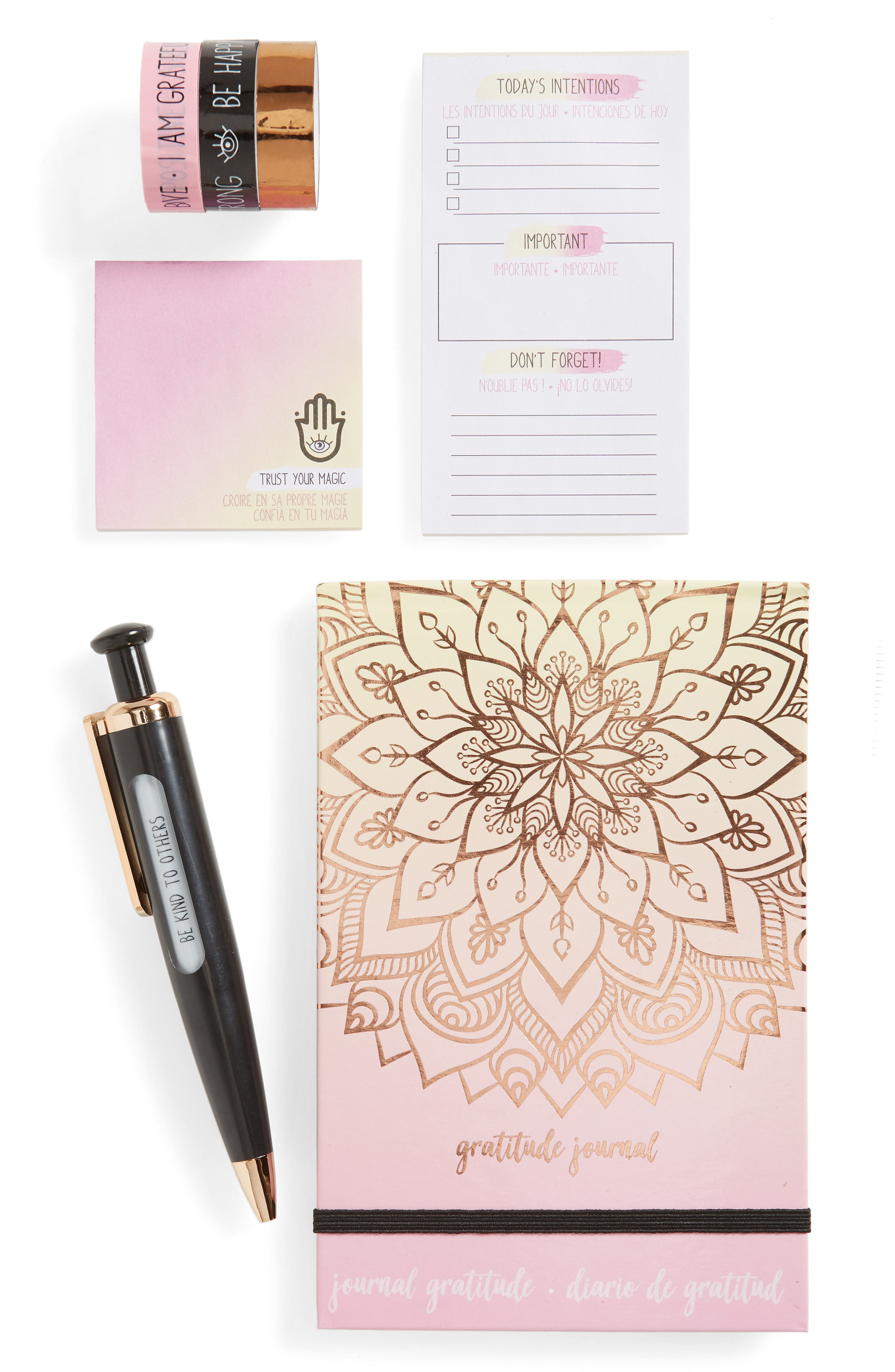 Good Vibes State of Mind Gratitude Journal Kit, Main, color, 960