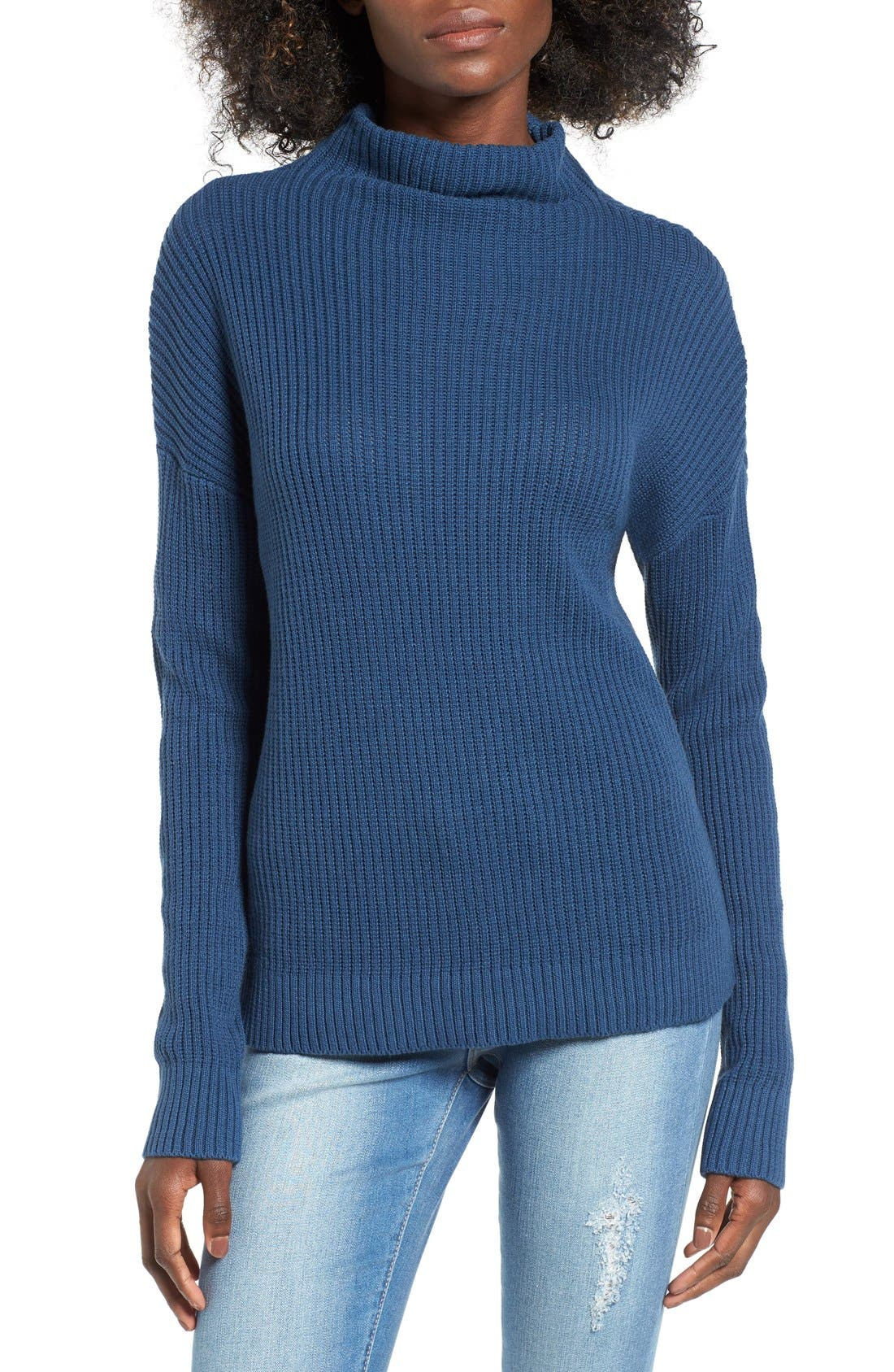 ,                             Mock Neck Sweater,                             Main thumbnail 21, color,                             401