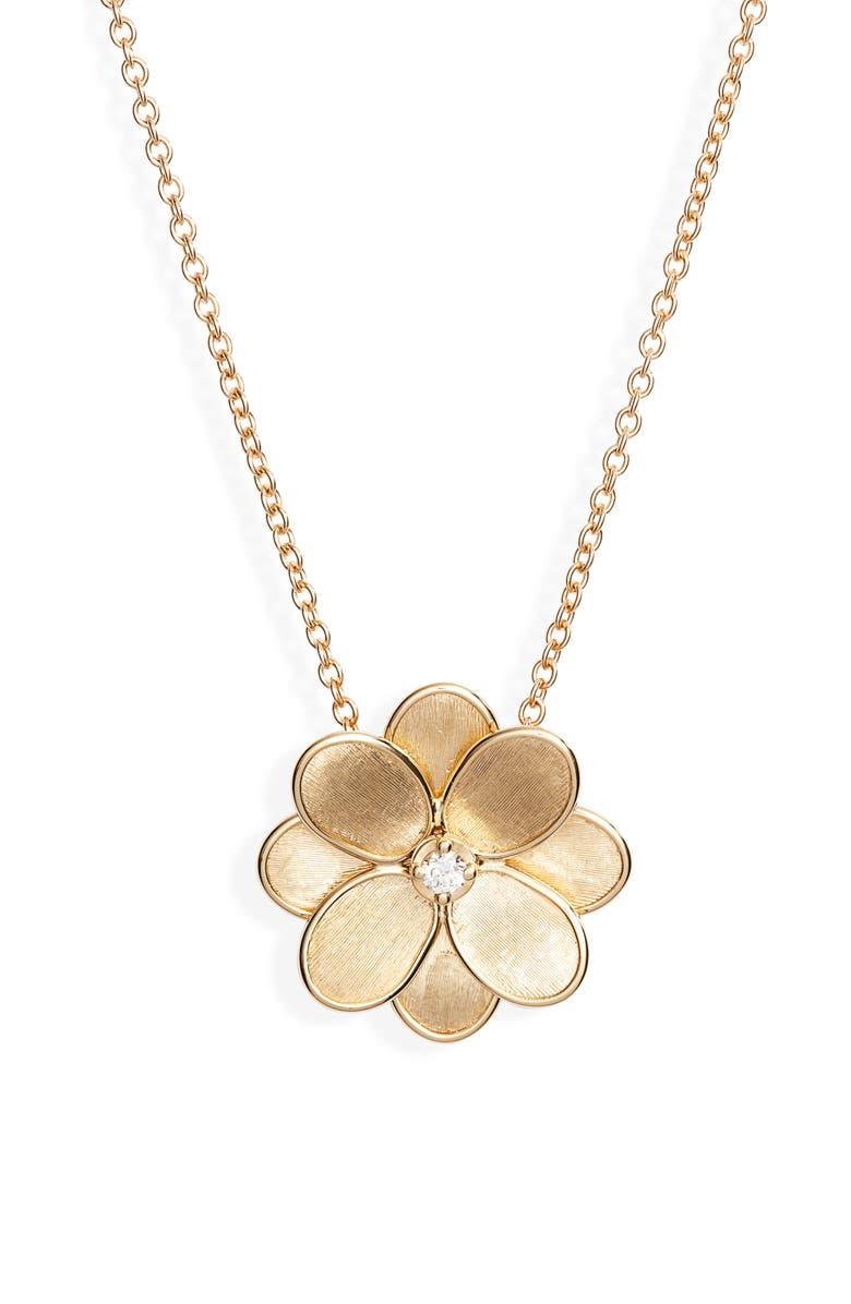 MARCO BICEGO Petali Diamond Pendant Necklace, Main, color, 710